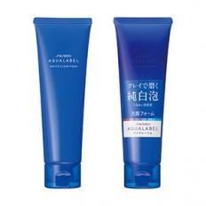 Sữa rửa mặt trắng da Shiseido Aqualabel White Clear Foam màu xanh