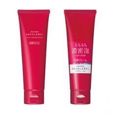 Sữa rửa mặt Shiseido Aqualabel milky mousse foam màu đỏ